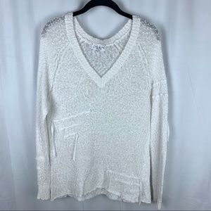 Feel the Piece Terre Jacbos white sweater, M/L